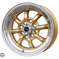 870 Fælge 13 4x100 Guld MED RANT VW HONDA